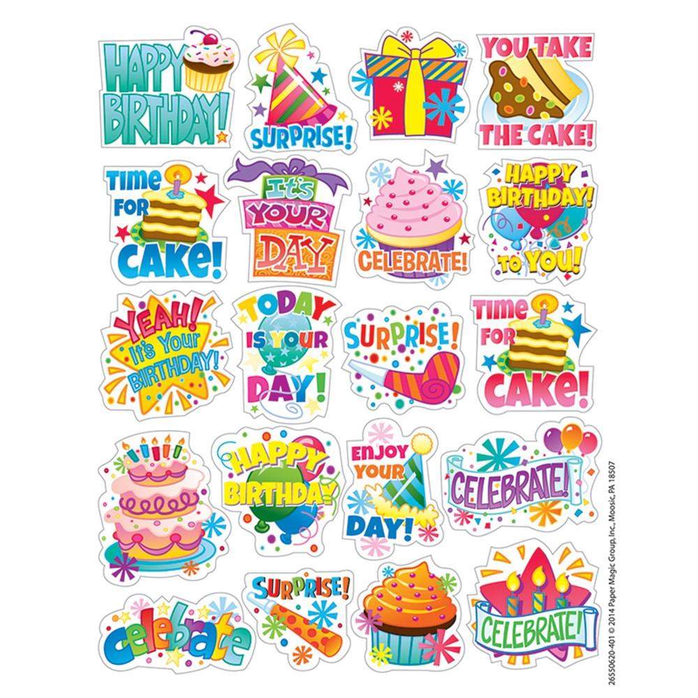 EU-655062 - Birthday Theme Stickers in Stickers