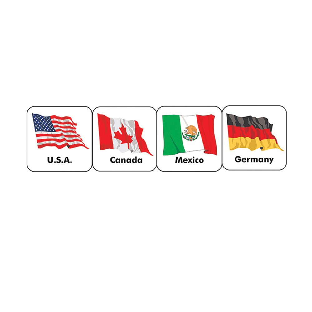 EU-65508 - Stickers World Flags in Social Studies