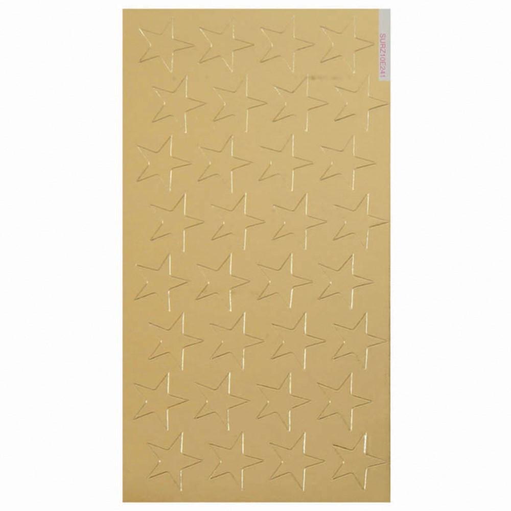 EU-82422 - Stickers Foil Stars 1/2 In 250/Pk Gold in Stickers