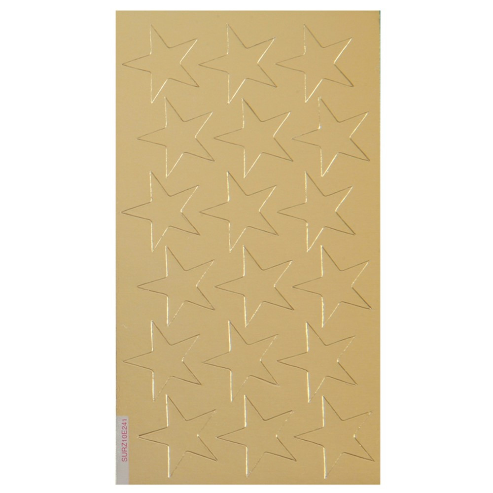 EU-82424 - Stickers Foil Stars 3/4 Inch 175/Pk Gold in Stickers