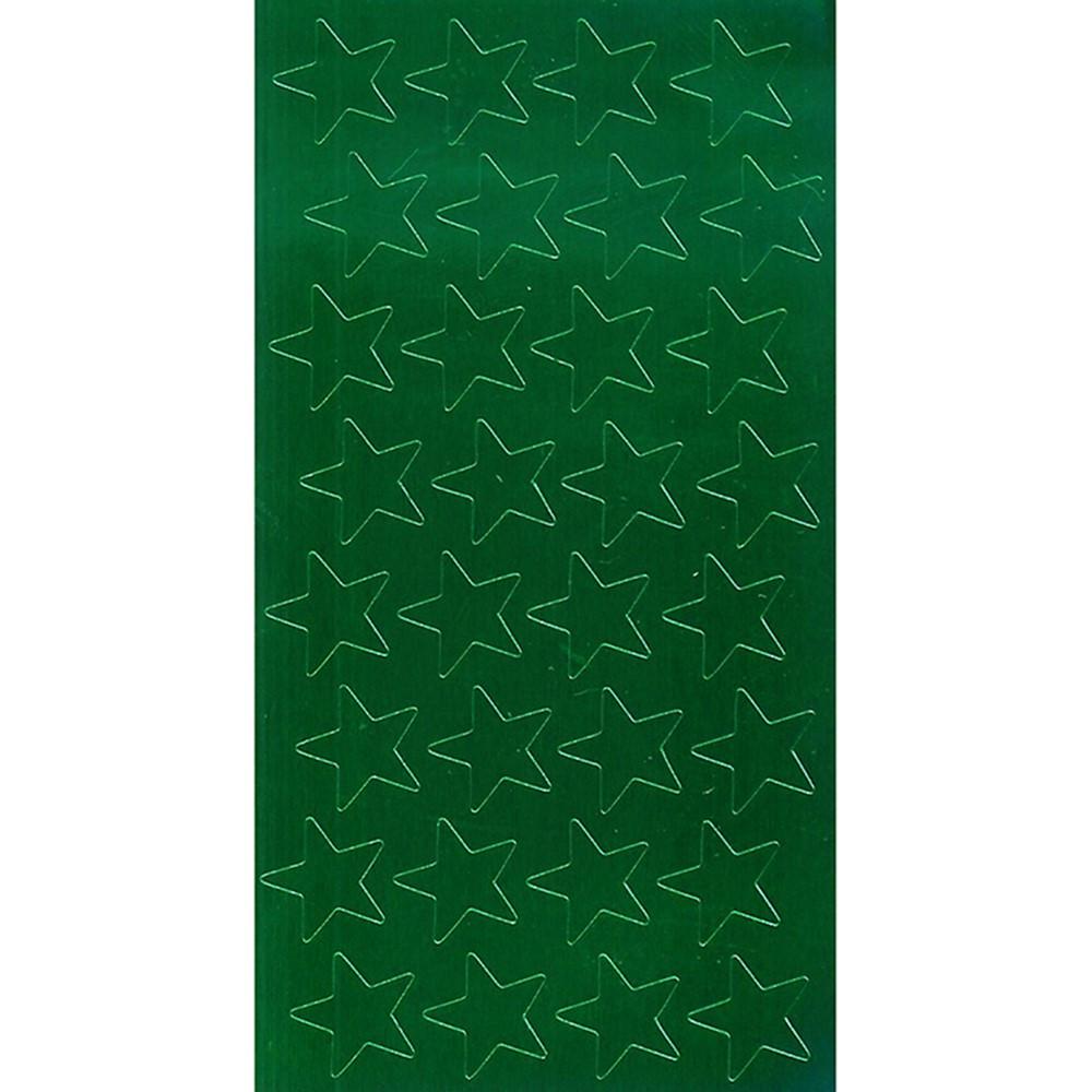 EU-82442 - Stickers Foil Stars 1/2 Inch 250/Pk Green in Stickers