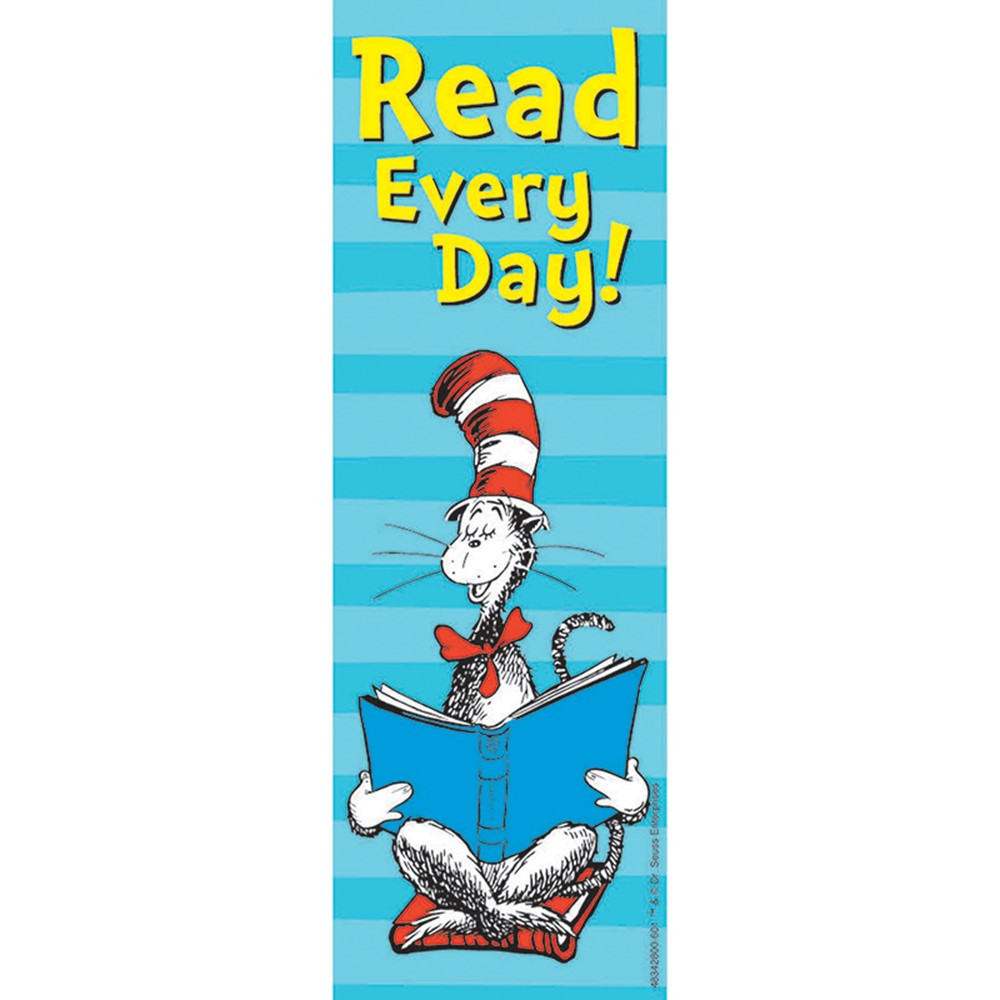 EU-834280 - Cat In The Hat Read Every Day Bookmarks in Bookmarks