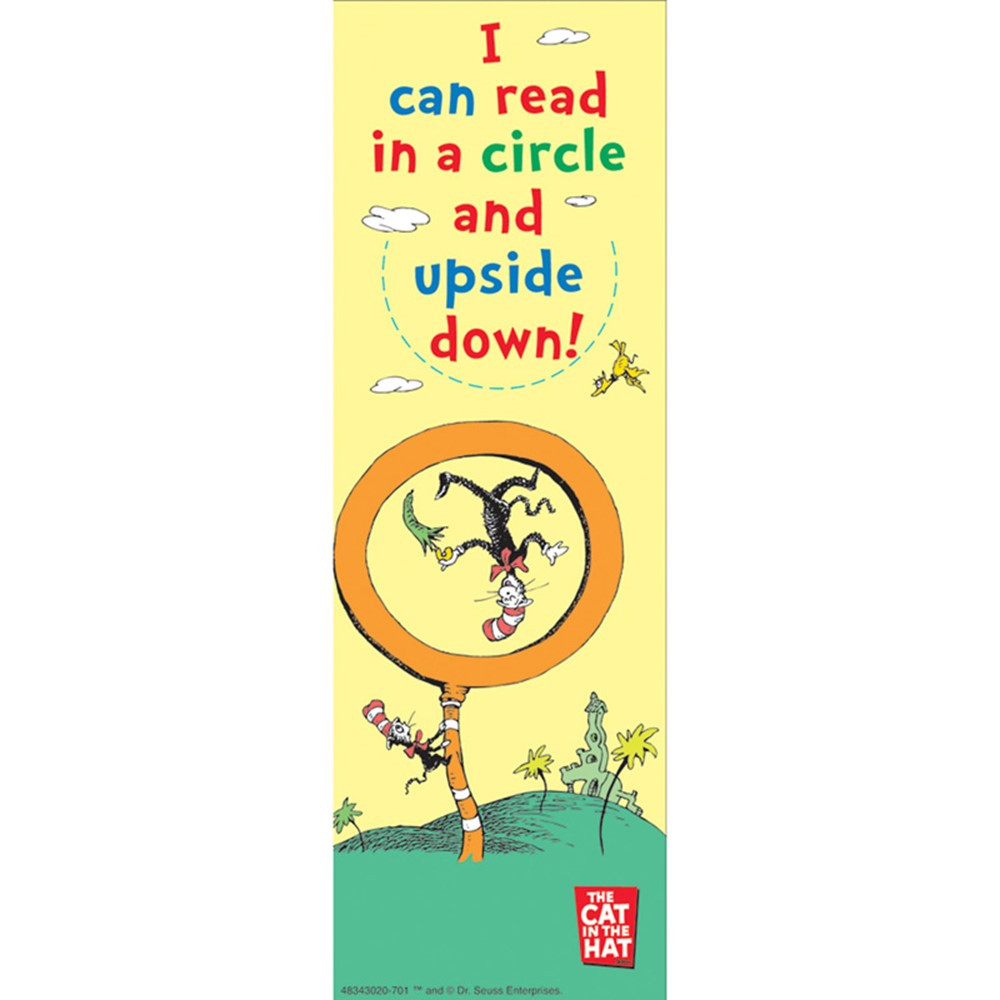 EU-834302 - Dr Seuss I Can Read In A Circle And Upside Down Bookmarks in Bookmarks