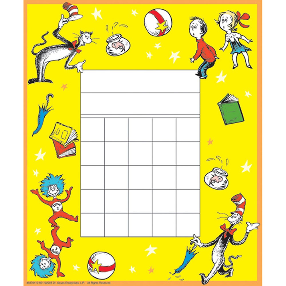 EU-837011 - Cat In The Hat Mini Reward Chart in Incentive Charts