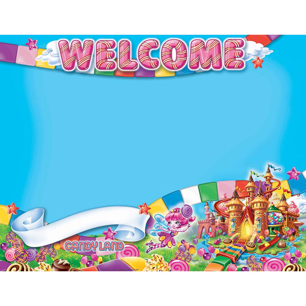 EU-837035 - Candy Land Welcome 17X22 Poster in Classroom Theme