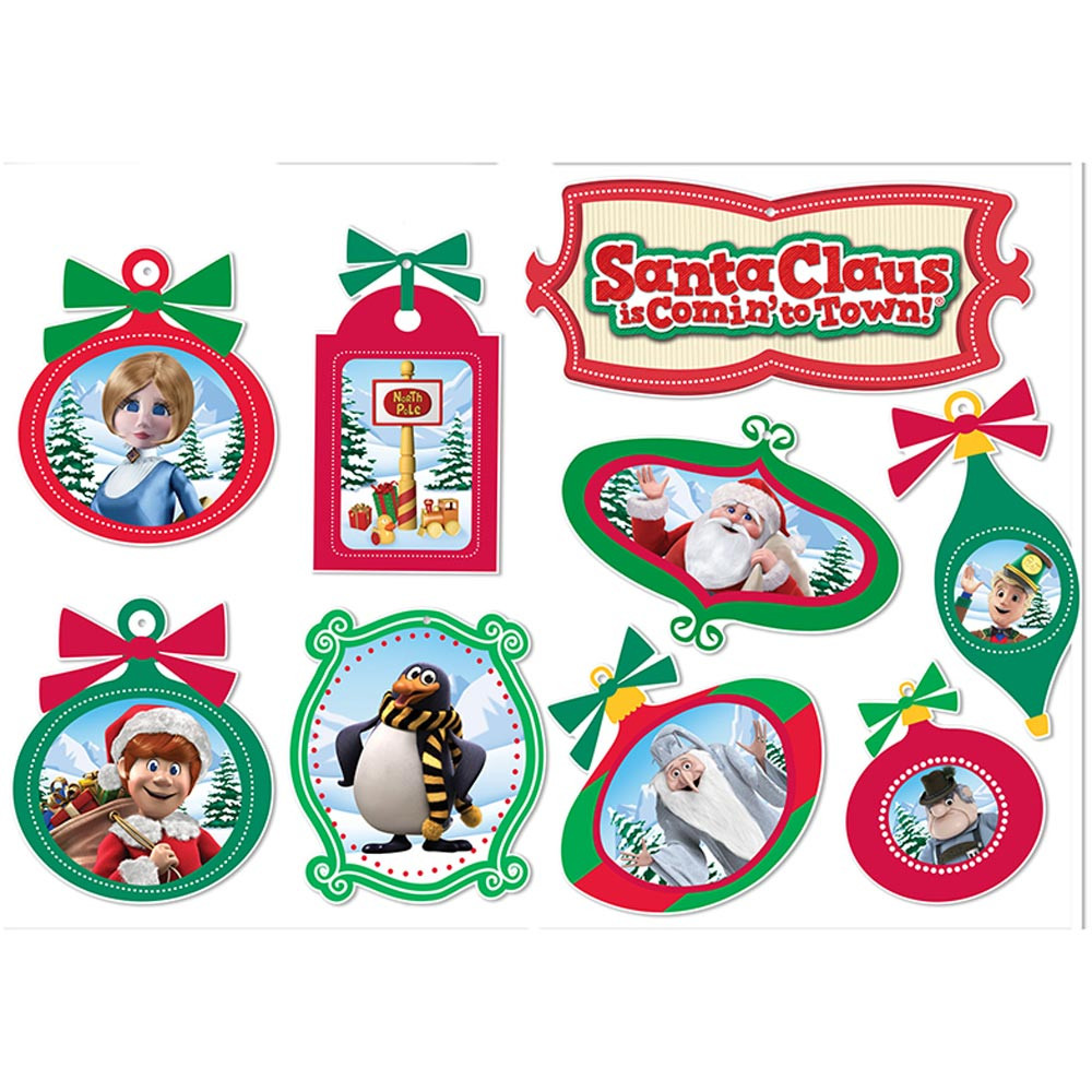 EU-840159 - Santa Comin To Town 2 Sided Deco Kit in Holiday/seasonal