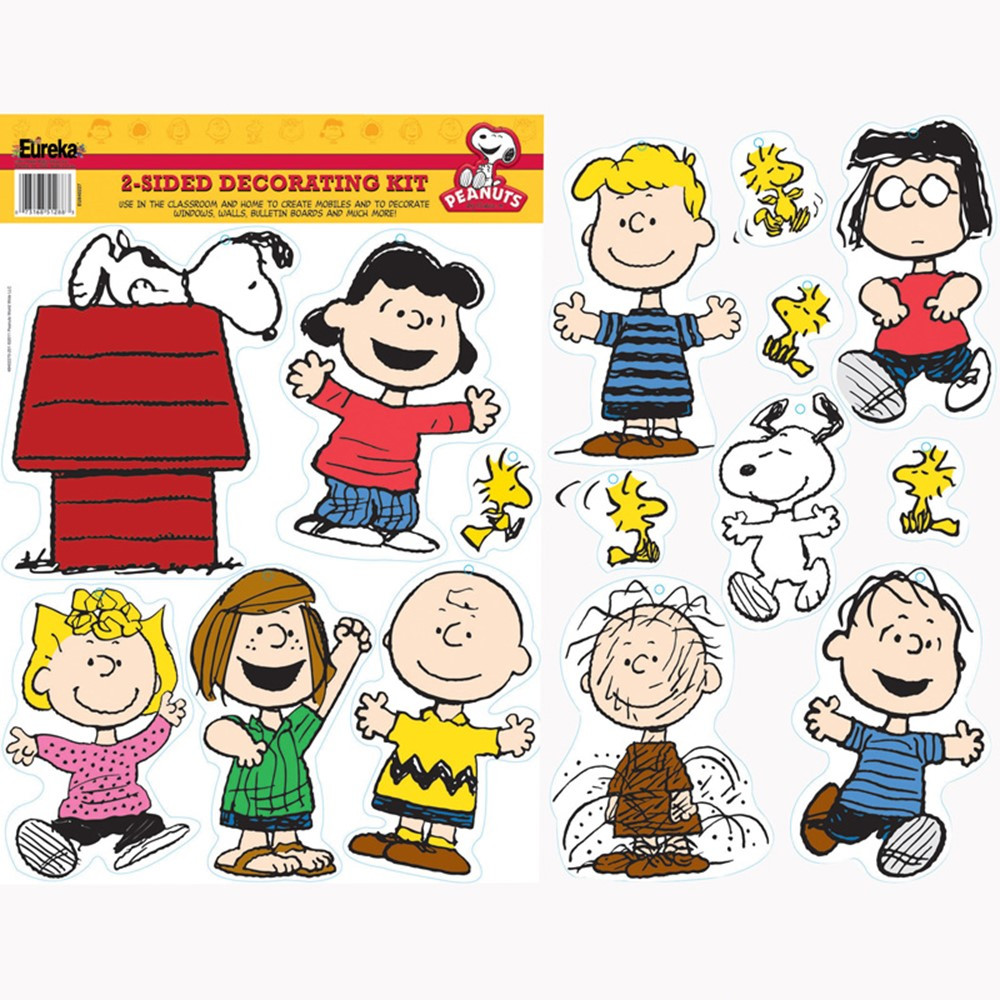 EU-840227 - Peanuts Classic Characters 2 Sided Deco Kit in Two Sided Decorations