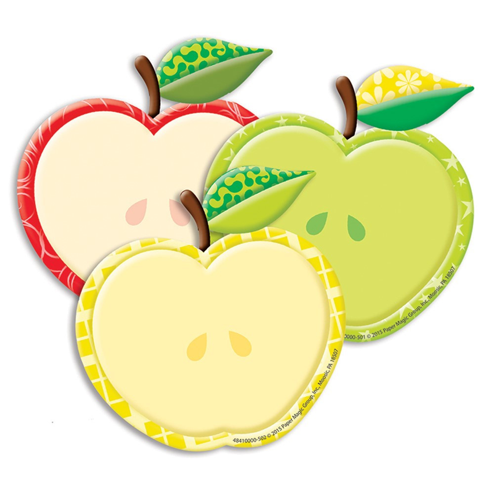 EU-841000 - Color My World Assorted Apple Paper Cutouts in Craft Paper