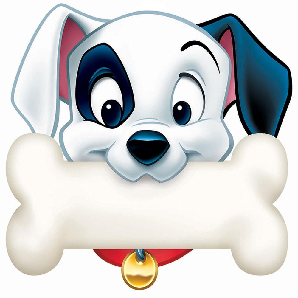 EU-841002 - 101 Dalmatians Dog Bone Paper Cut Outs in Accents