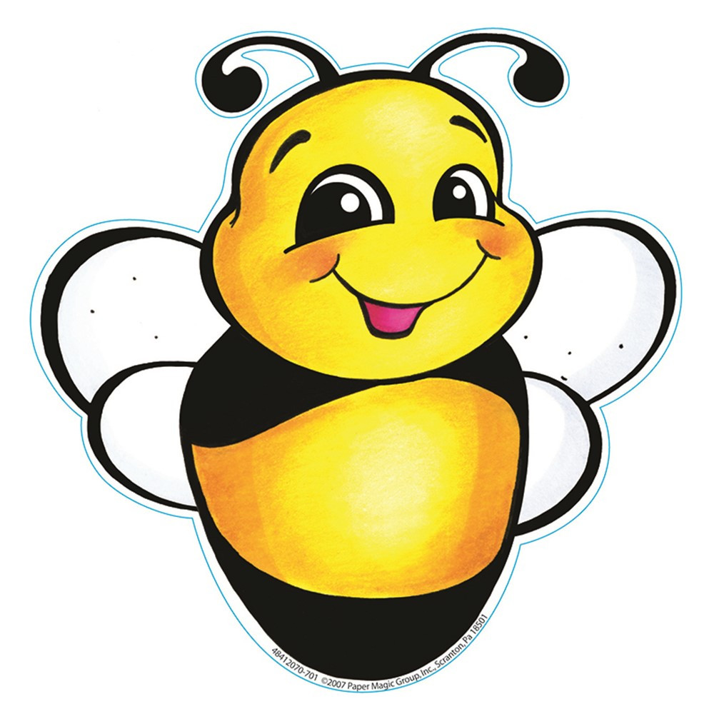 EU-841207 - Bee Paper Cut Outs 36/Pk in Accents