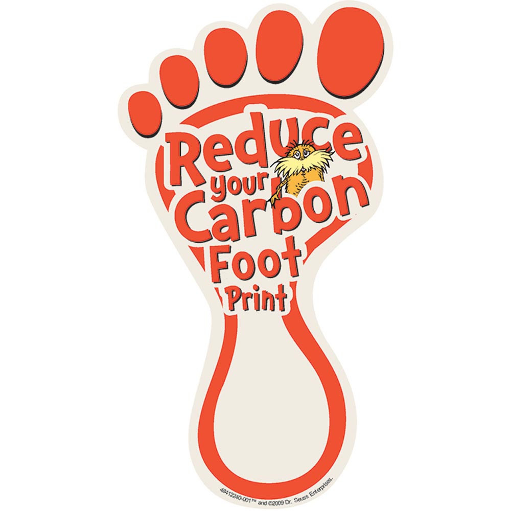 EU-841224 - The Lorax Project Carbon Footprint Spaper Cut-Outs in Holiday/seasonal