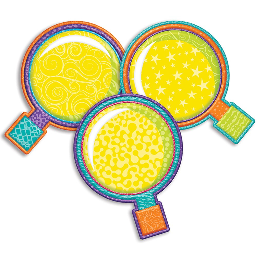EU-841354 - Magnifying Glass Asrt Paper Cutouts Color My World in Accents