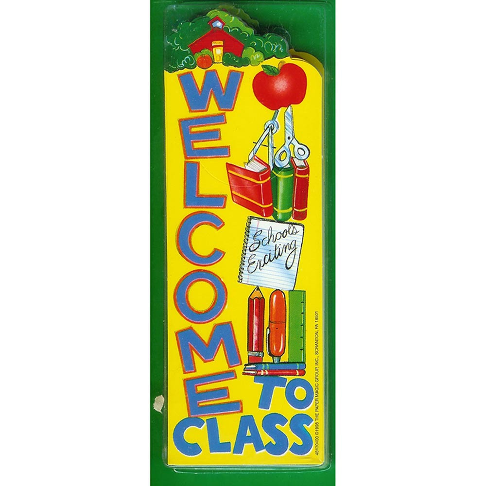 EU-84304 - Bookmarks Welcome To Class 36/Pk in Bookmarks