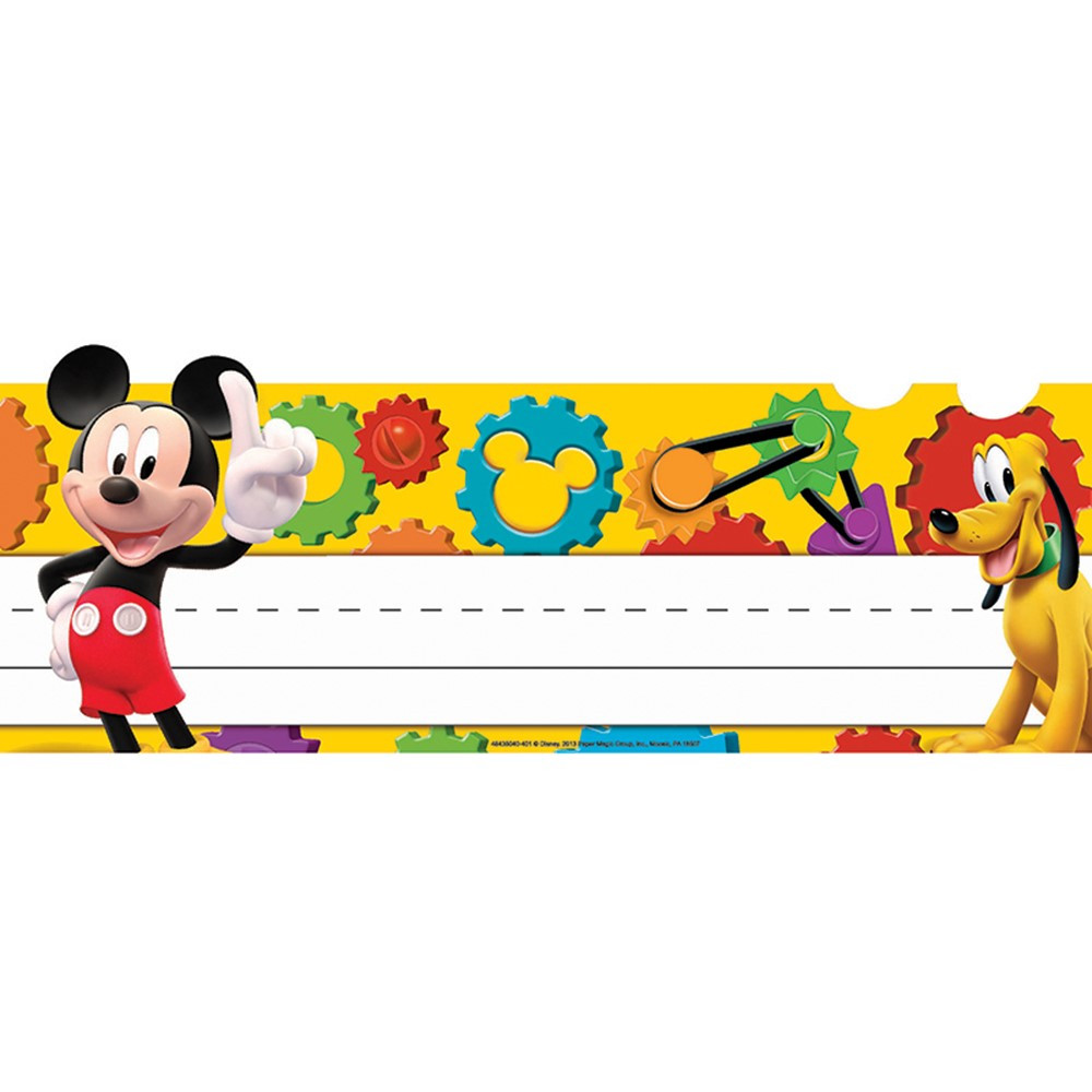 EU-843504 - Mickey Mouse Clubhouse Mickey Gears Tented Name Plates in Name Plates