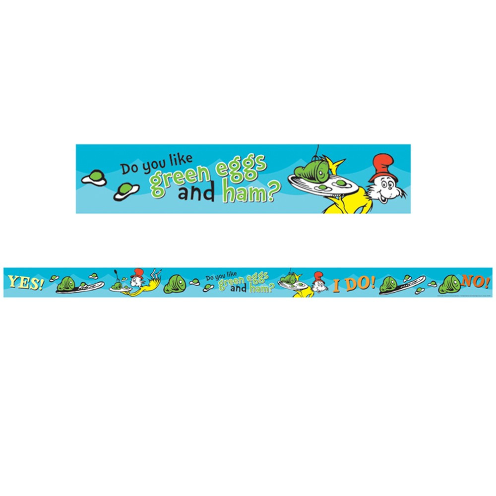 EU-844914 - Dr Seuss - Green Eggs And Ham Deco Trim in Border/trimmer