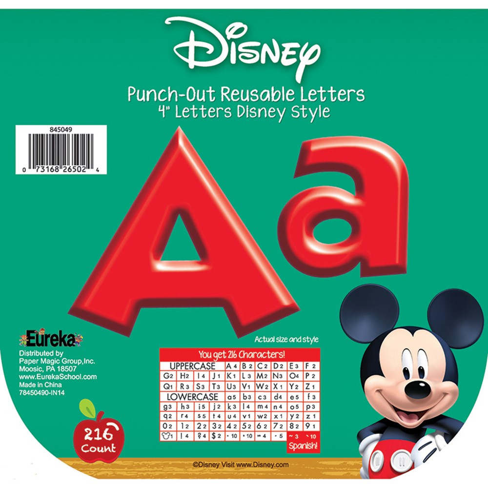 EU-845049 - Mickey Mouse Clubhouse Red Deco Letters in Letters