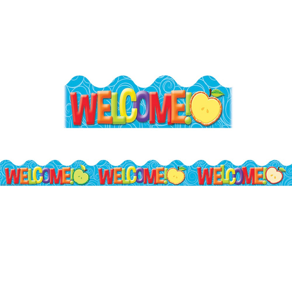 EU-845120 - Color My World Welcome Deco Trim in Border/trimmer