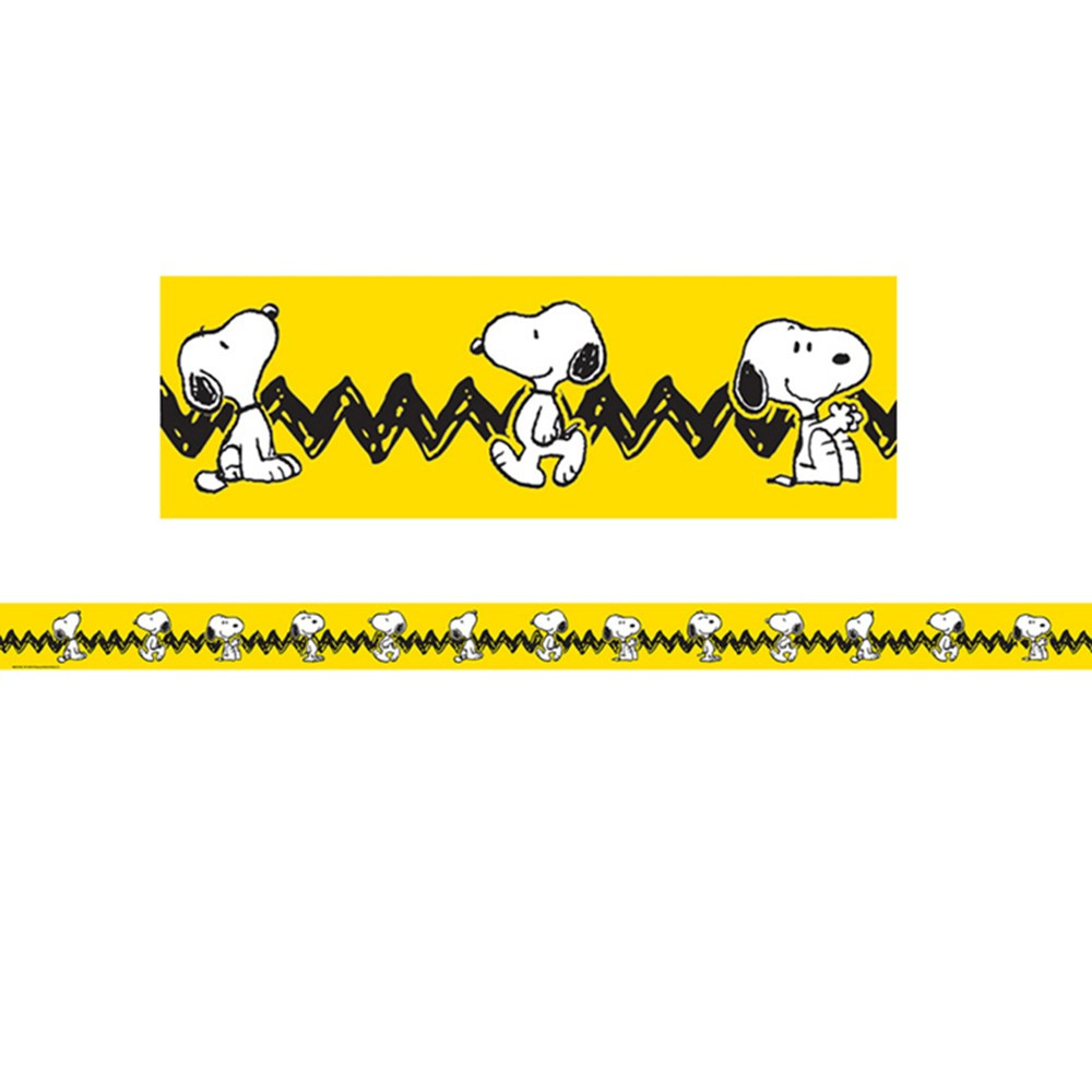 EU-845253 - Peanuts Yellow With Snoopy Deco Trim in Border/trimmer