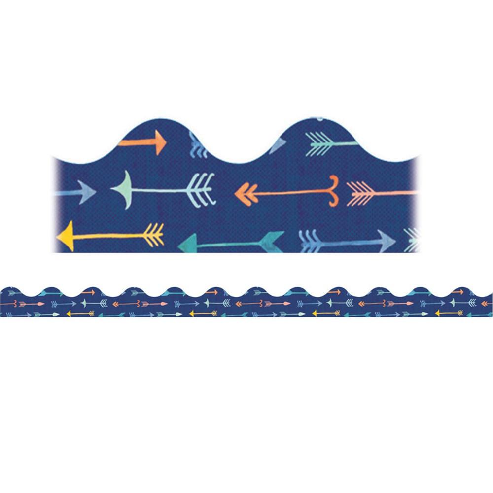 EU-845256 - Confetti Splash Pointed Arrows Deco Trim in Border/trimmer
