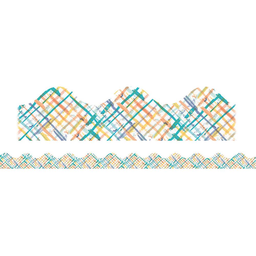 EU-845258 - Confetti Splash Crosshatch Deco Trim in Border/trimmer