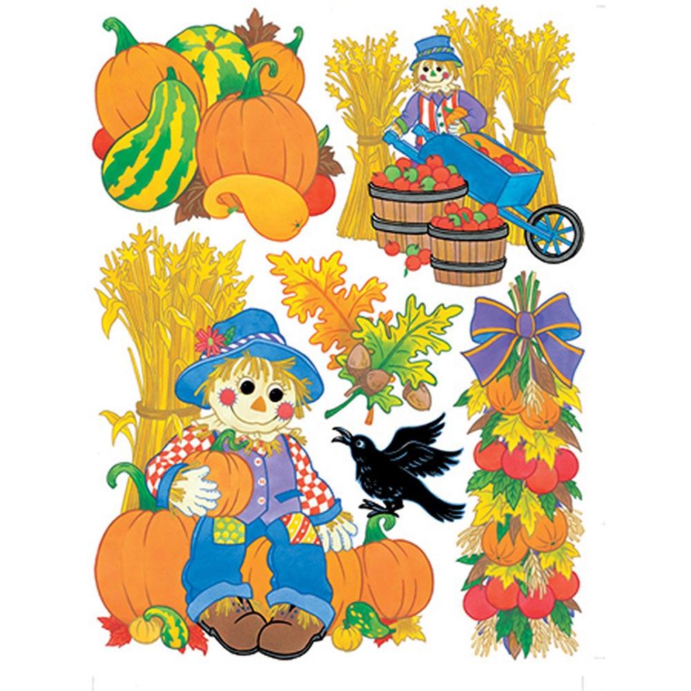 EU-846012 - Window Cling Harvest Scarecrows in Window Clings