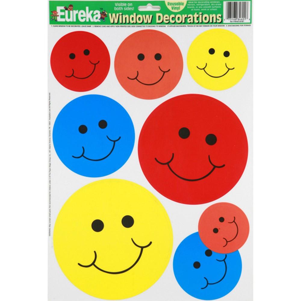 EU-84601 - Window Cling Smiles 12 X 17 in Window Clings