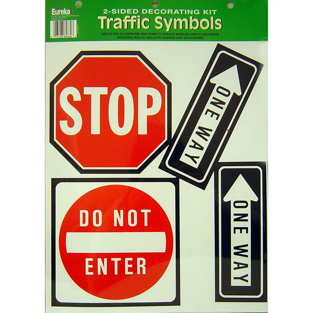 EU-84664 - 2-Sided Traffic Symbols in Two Sided Decorations
