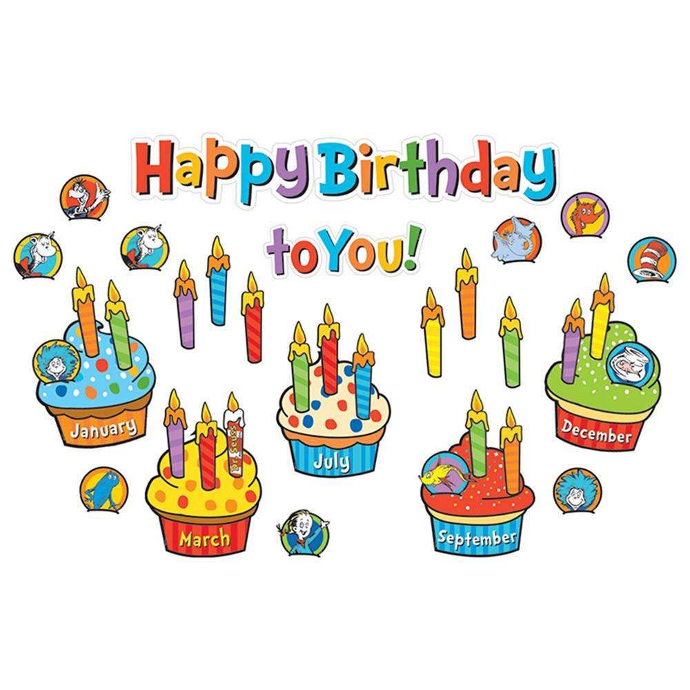 Dr Seuss Birthday Mini Bulletin Board Set Eu 847050 Eureka