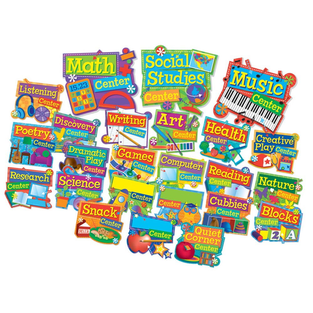 EU-847052 - Hands On Management Center Signs Mini Bulletin Board Set in Miscellaneous