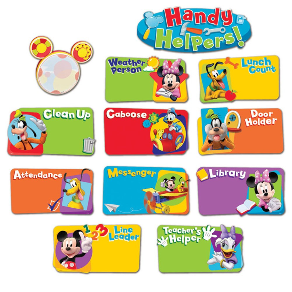 Foreign Language Classroom Decorations ~ Mickey mouse clubhouse handy helpers job chart mini bbs
