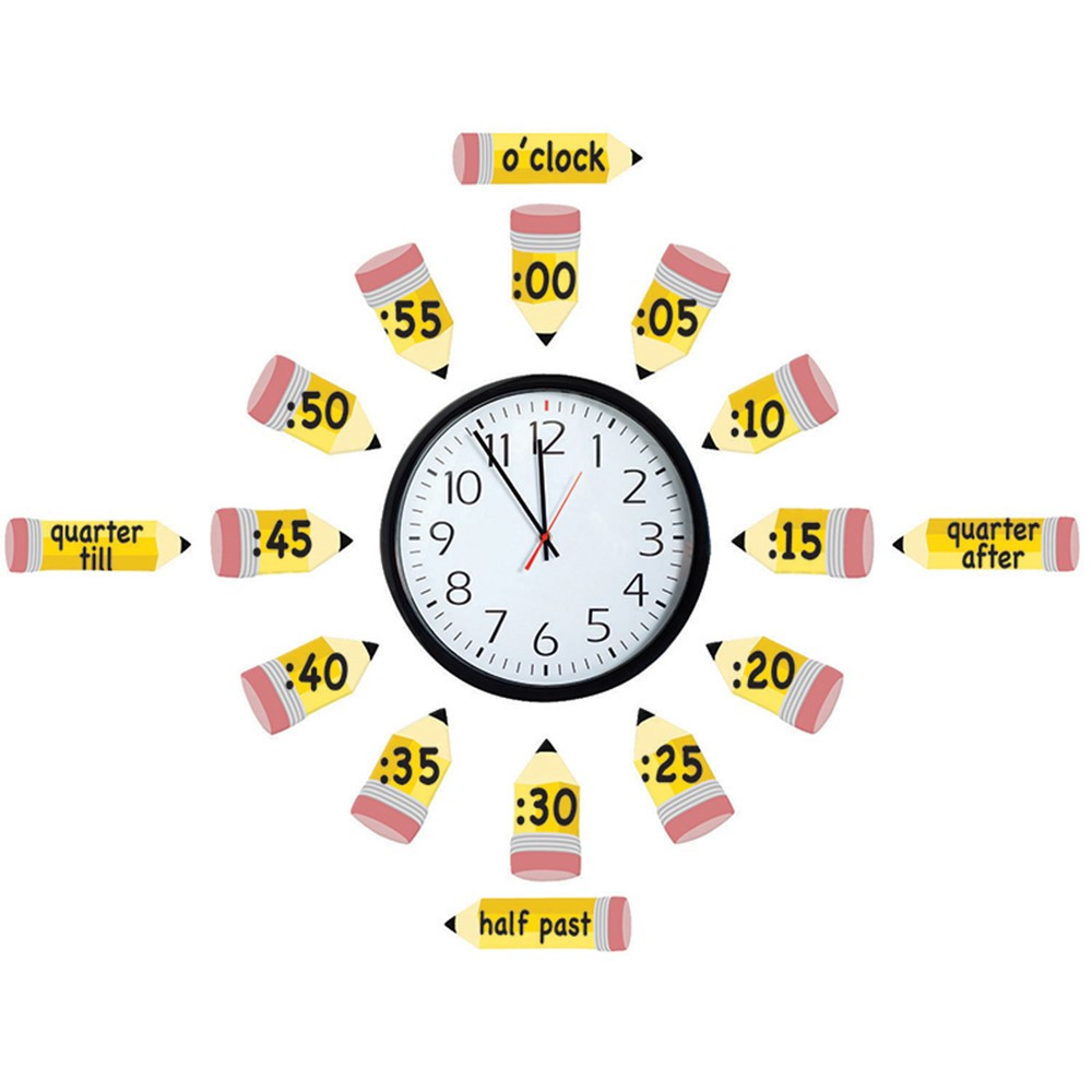 EU-847423 - Telling Time Bulletin Board Set in Math