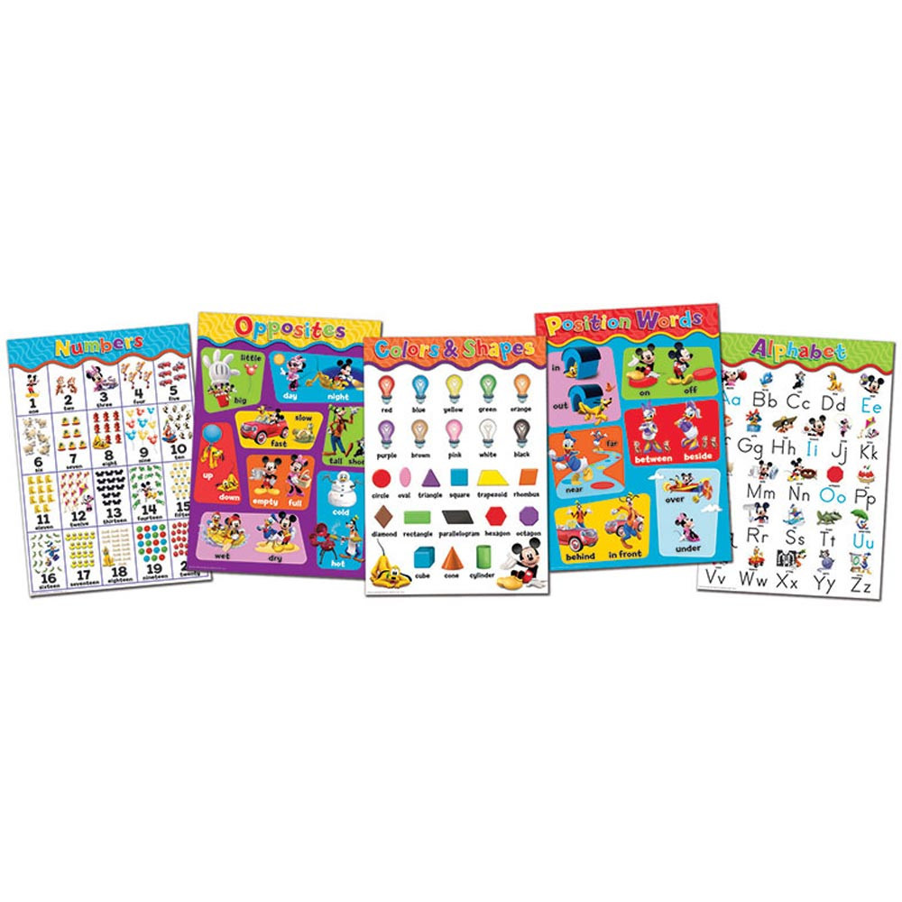 EU-847533 - Mickey Mouse Clubhouse Beginning Concepts Bulletin Board Set in Classroom Theme