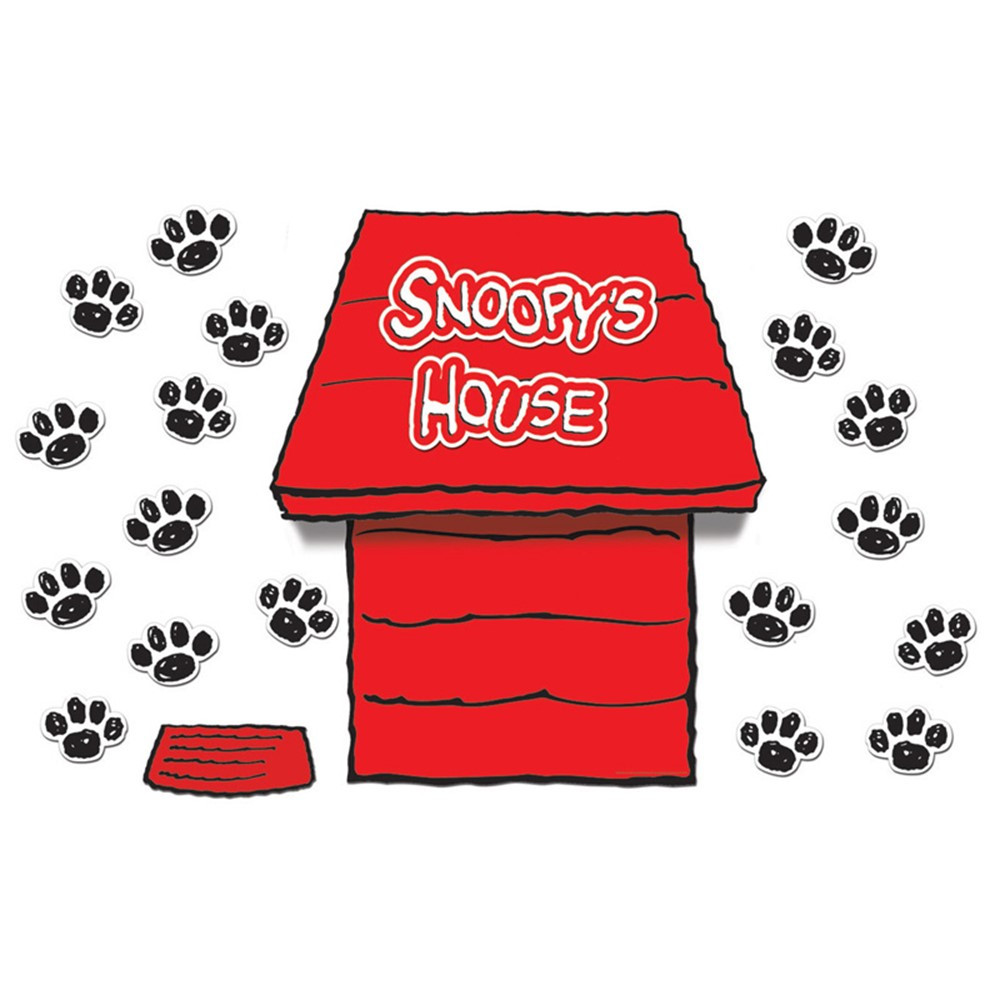 Classroom Decorations Bulletin Board Set ~ Giant peanuts dimensional dog house bulletin board set