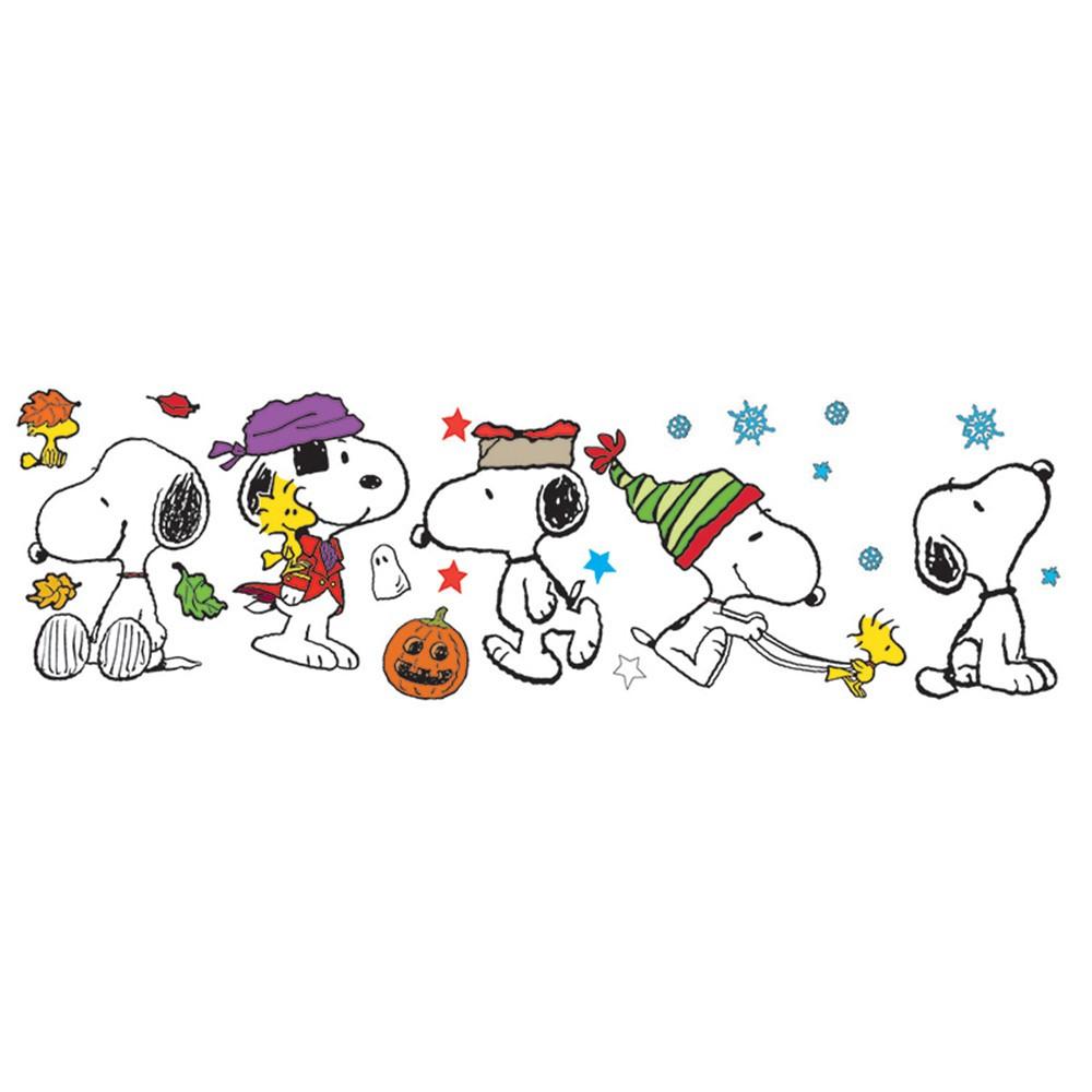 surprising Winter Bulletin Board Sets Part - 11: Fall Winter Snoopy Pose Bb Set - EU-847602 | Eureka | Bulletin Board Sets ,Holiday-seasonal
