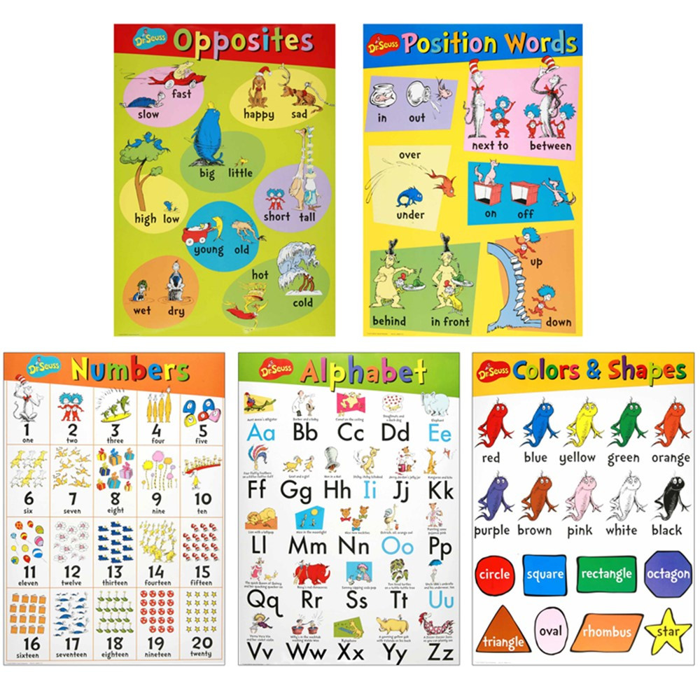 EU-847628 - Dr Seuss Beginning Concepts Bulletin Board Set in Classroom Theme