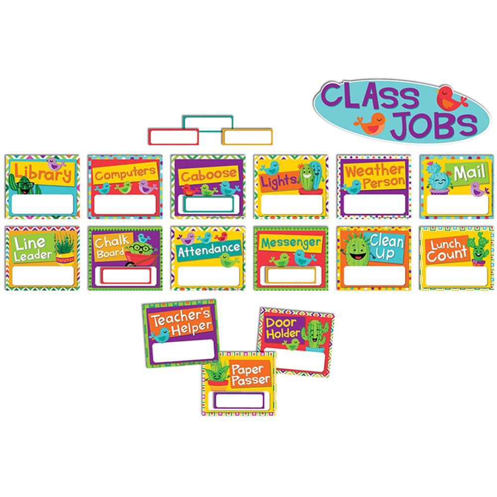 EU-847772 - A Sharp Bunch Job Chart Mini Bulletin Board Set in Classroom Theme