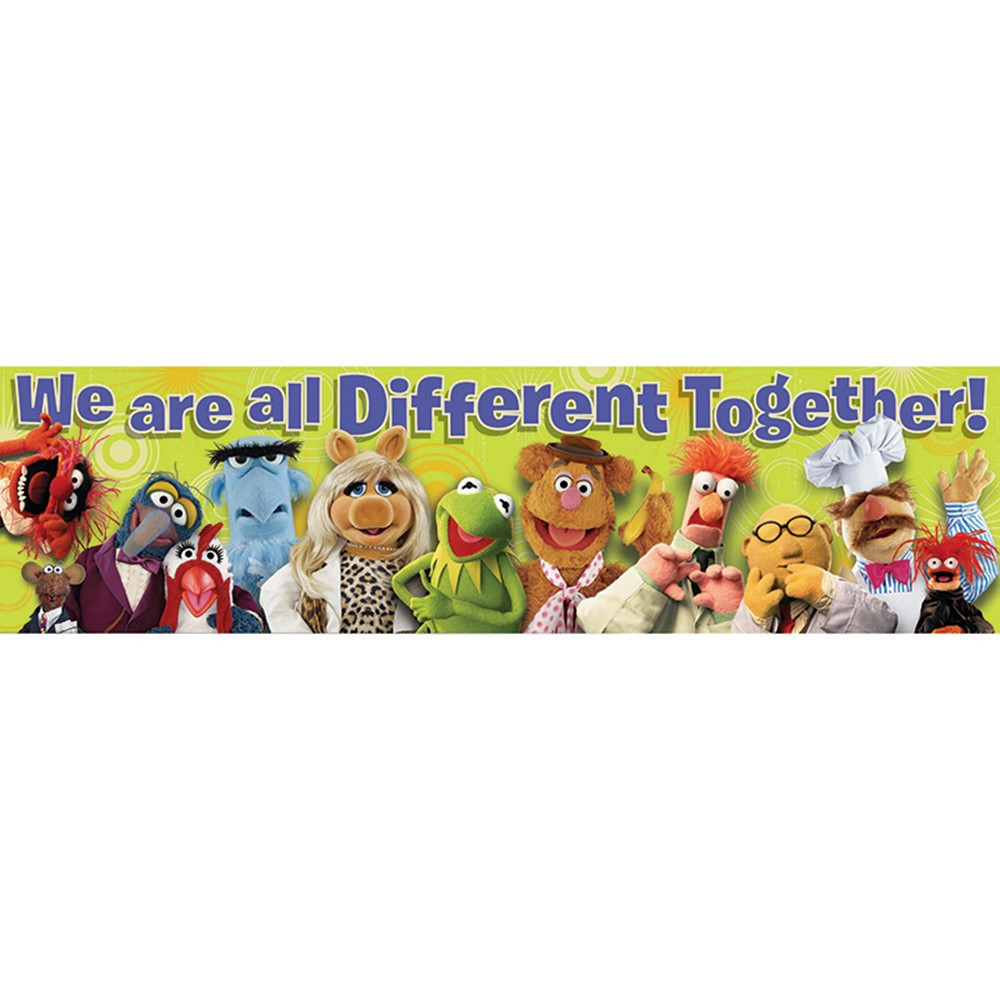 EU-849003 - Muppets All Different Classroom Banner in Banners
