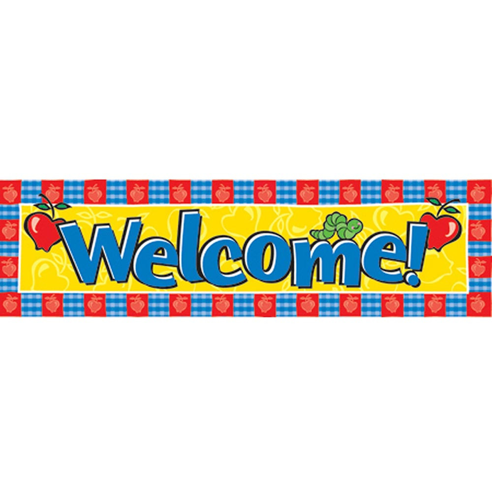 EU-849450 - Banner Welcome Horizontal 45 X 12 in Banners
