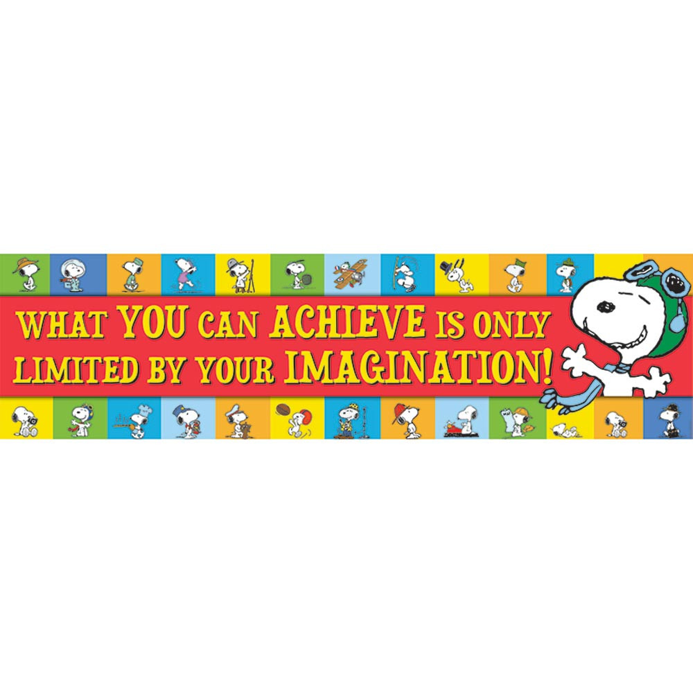 Foreign Language Classroom Decorations ~ Peanuts achieve horizontal banner eu eureka