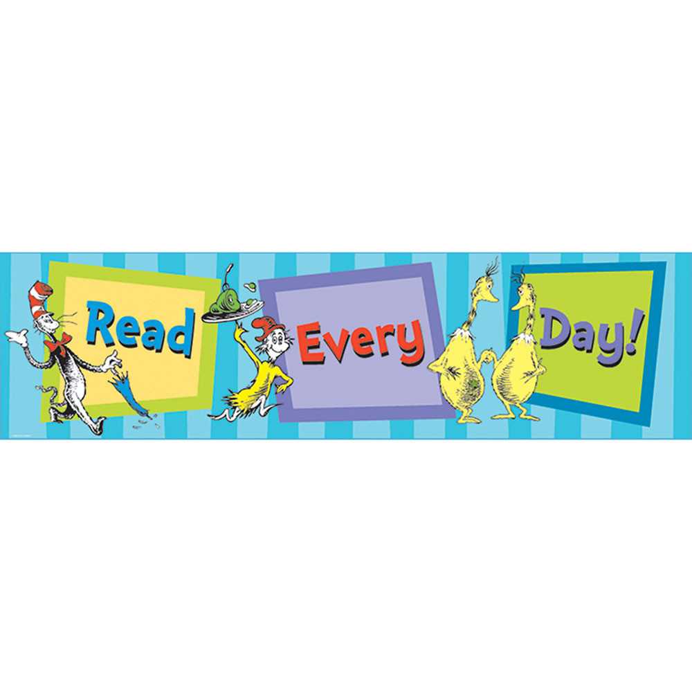 EU-849663 - Cat In The Hat Read Every Day Banner in Banners
