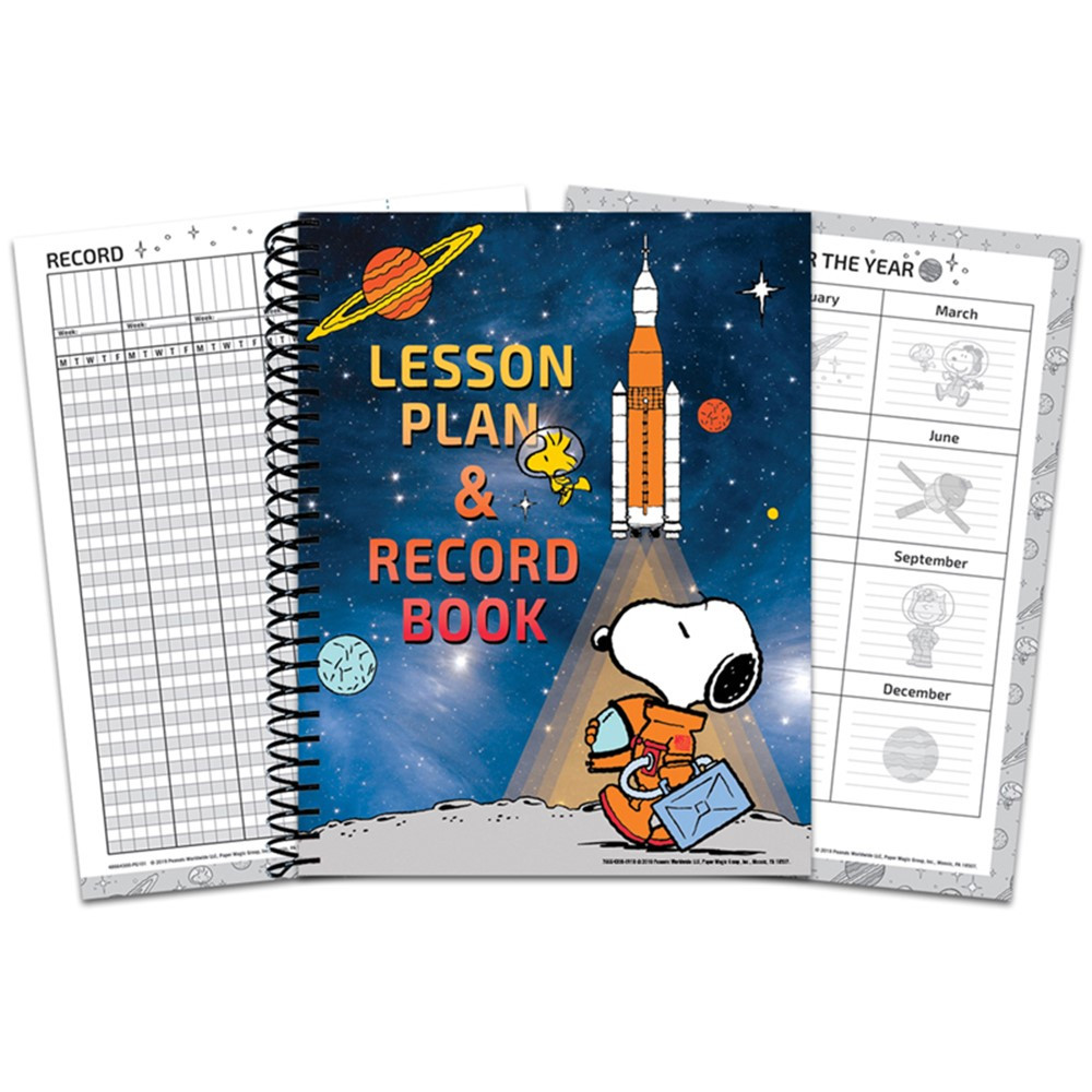 Peanuts NASA Lesson Plan & Record Book - EU-866430   Eureka   Plan & Record Books