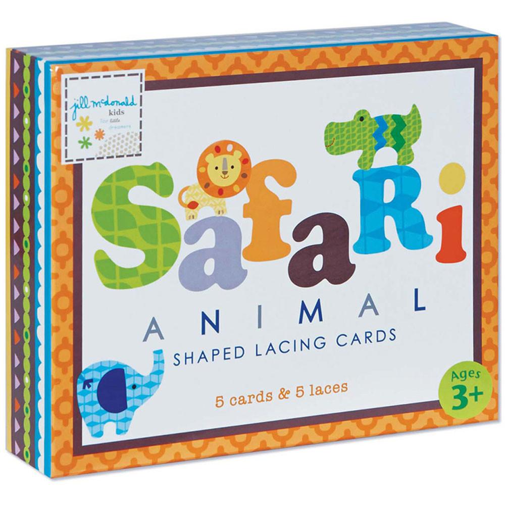EU-BLC12687 - Safari Shaped Lacing Cards English/Spanish/French in Lacing