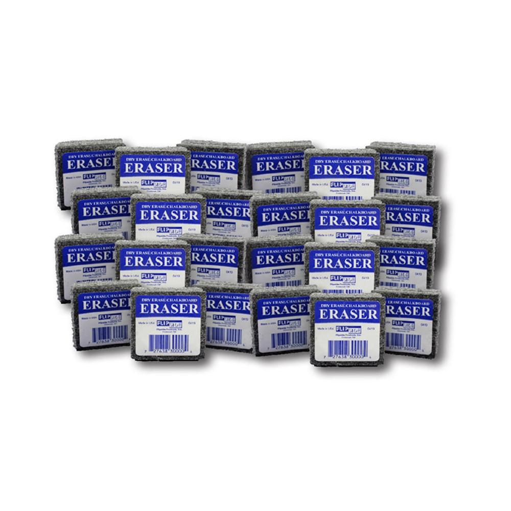 Felt Student Dry Erase/Chalkboard Erasers, Pack of 24 - FLP32000 | Flipside | Erasers