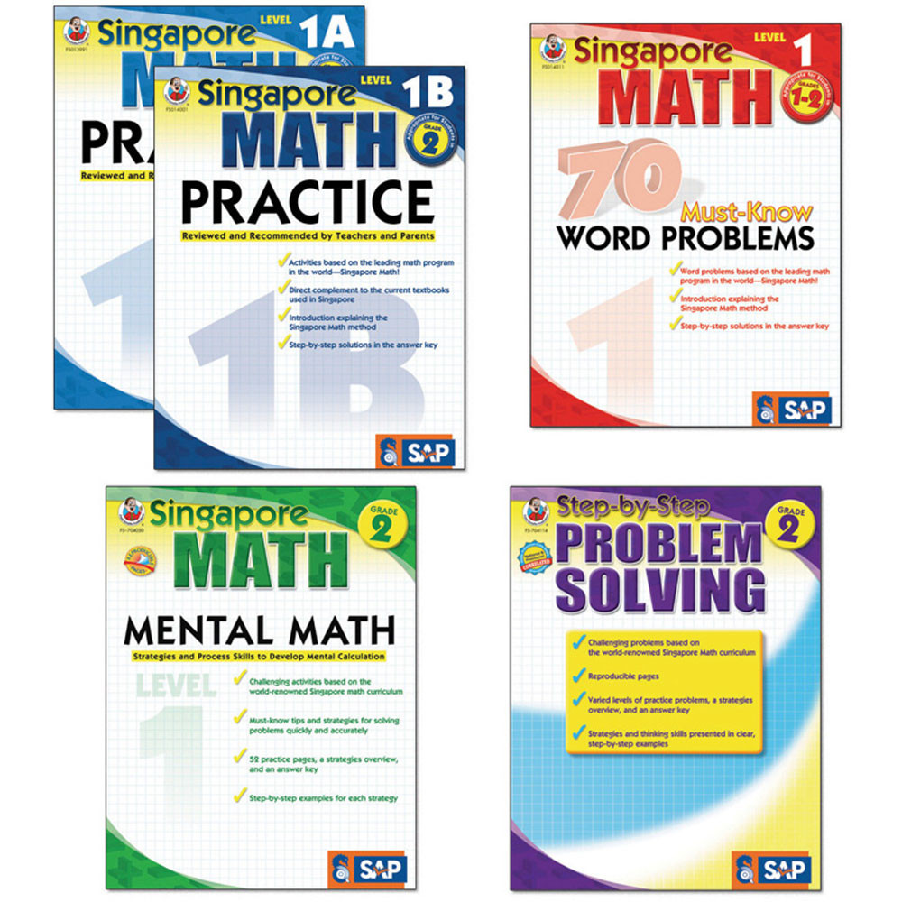 FS-704177 - Singapore Math Bundle Gr 1-2 in Activity Books