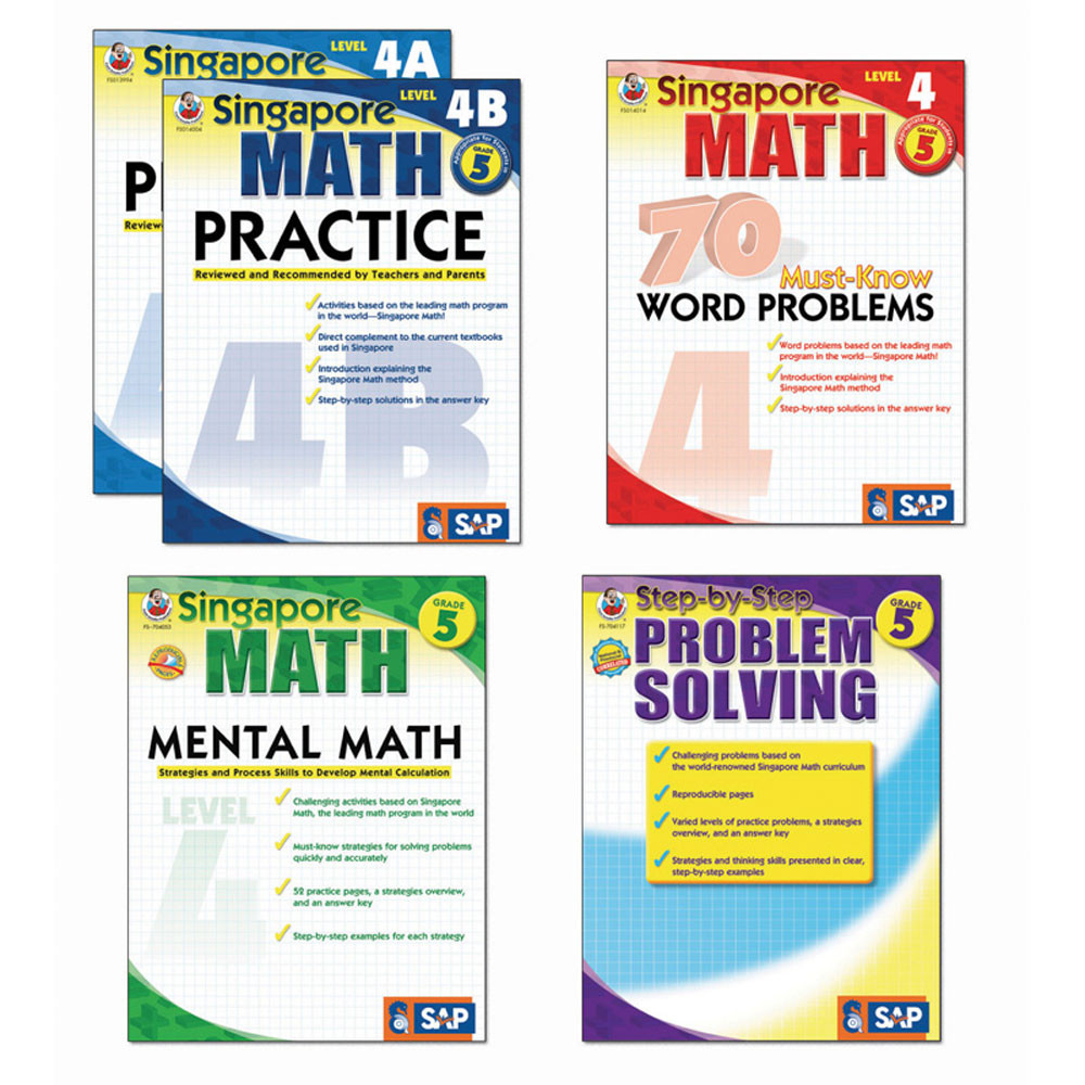 FS-704180 - Singapore Math Bundle Gr 5 in Activity Books