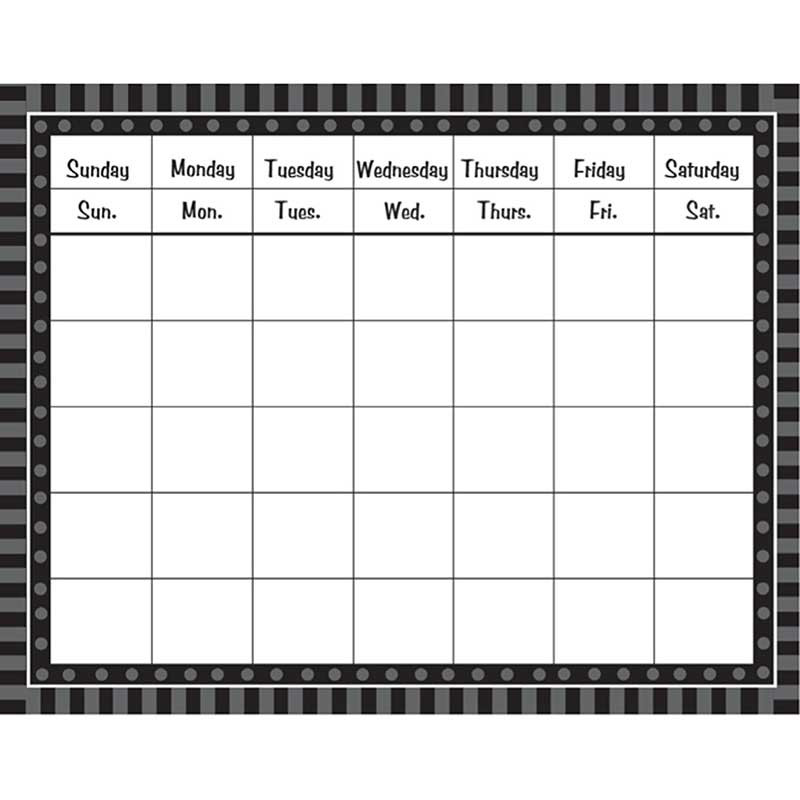 FST4800 - Black Sassy Solids Calendar in Calendars