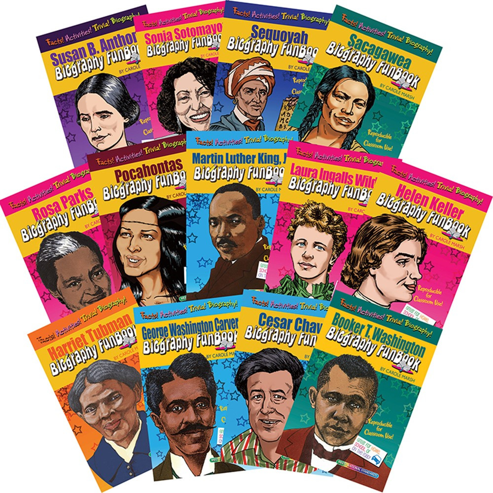 GALFBSETWMK - Biography Funbooks Women & Minorities Who Shaped Our Nation in History