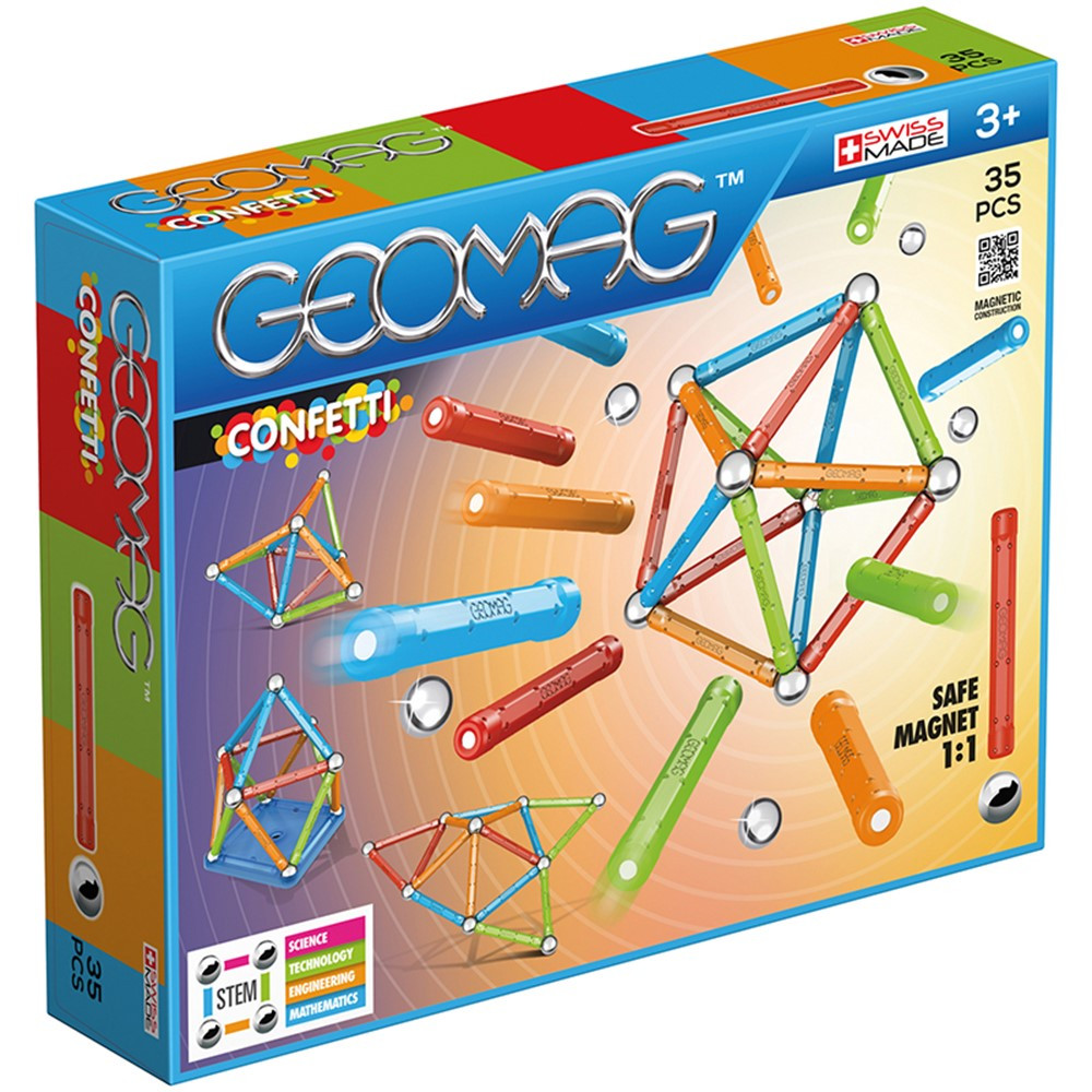 GMW351 - Geomag Confetti Set 35 Pieces in Accents