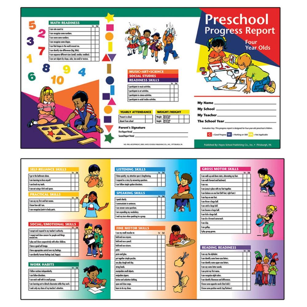 H-PRC4 - Preschool Progress Report 10Pk Age4 in Progress Notices