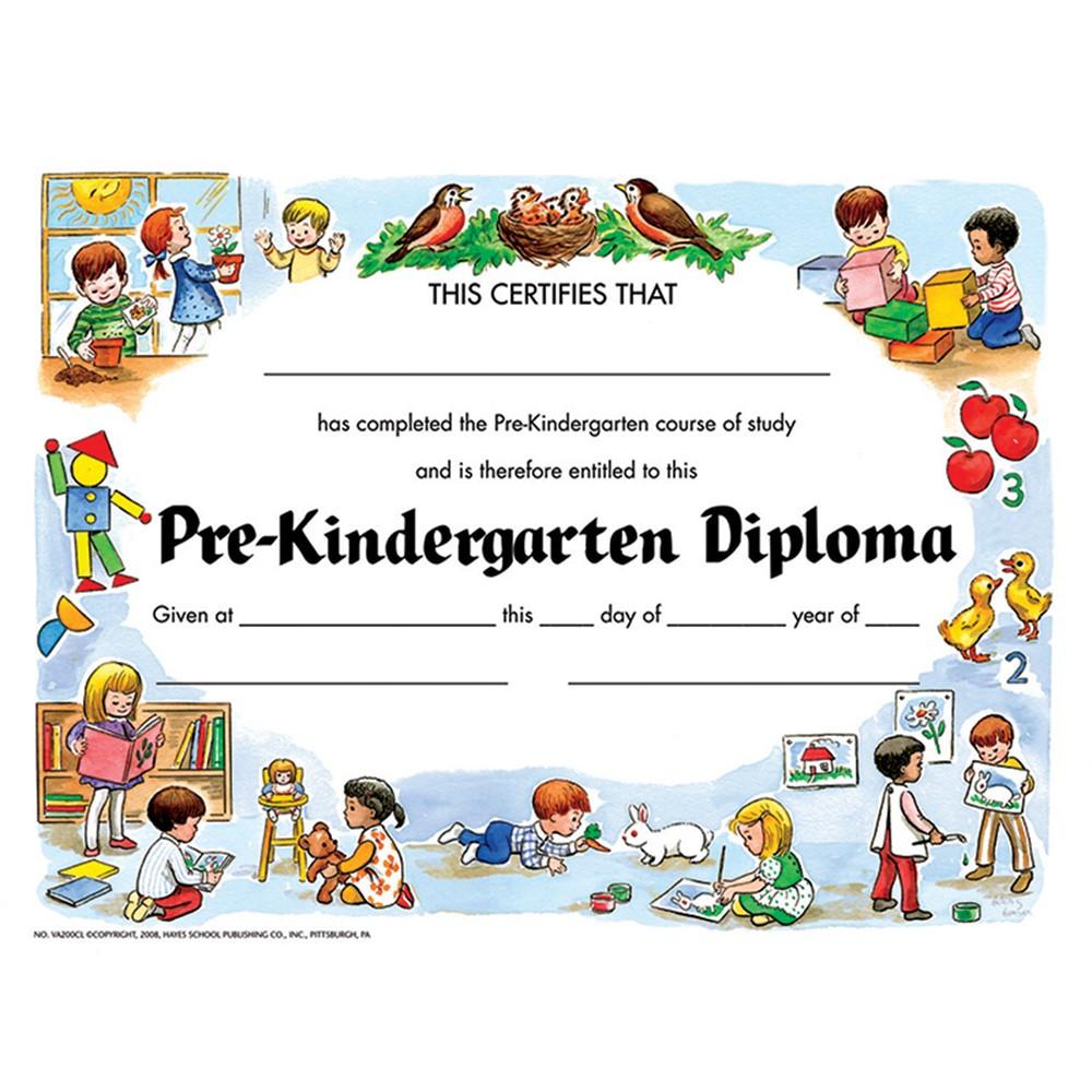 H-VA200CL - Pre-Kindergarten Diploma 30/Pk in Certificates